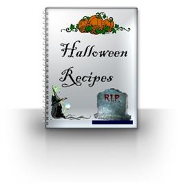 halloween recipes ebook with resale rights