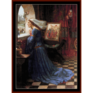 Fair Rosamund - Waterhouse cross stitch pattern by Cross Stitch Collectibles | Crafting | Cross-Stitch | Other