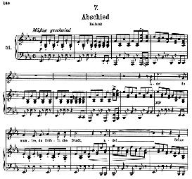 abschied d.957-7, high voice in e flat major, f. schubert (schwanengesang) pet.