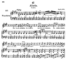 Alinde D.904 in A Major, High Voice, F. Schubert (Pet.) | eBooks | Sheet Music