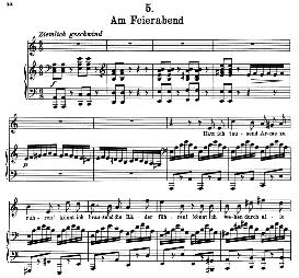 Am Feierabend D.795-5 in A Minor, High Voice, F. Schubert (Die Schöne Müllerin), Pet. | eBooks | Sheet Music