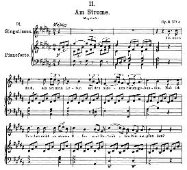 Am Strome D.539 in B Major, High Voice. F. Schubert (Pet.) | eBooks | Sheet Music
