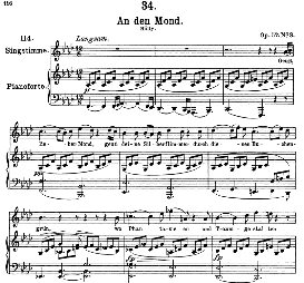 "An den Mond D.193 ""Geuss, lieber Mond"", High Voice  in F Minor, F. Schubert (Pet.) 
