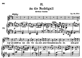 An die Nachtigall D.497 in G Major, High Voice. F. Schubert (Pet.) | eBooks | Sheet Music