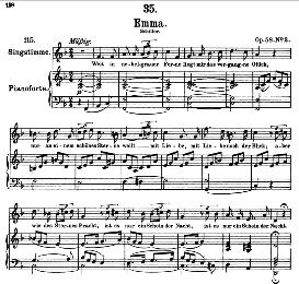 An Emma D.193 in F Major, High Voice. F. Schubert | eBooks | Sheet Music