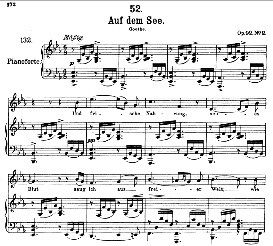 Auf dem See D.543 in E Flat Major, High Voice. F. Schubert (Pet.) | eBooks | Sheet Music
