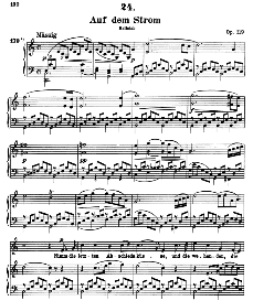 Auf dem Strom D.943 in C Major, High Voice. F. Schubert. (Pet.) | eBooks | Sheet Music