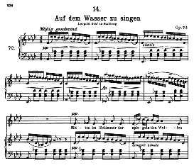 Auf dem Wasser zu singen D.774, High Voice in A Flat Major, F. Schubert | eBooks | Sheet Music
