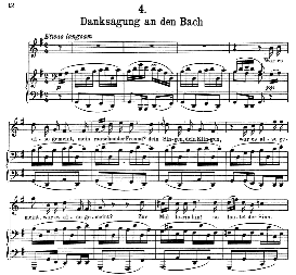 Danksagung an den Bach D.795-4 in G Major, F. Schubert (Die Schöne Müllerin). Pet. | eBooks | Sheet Music