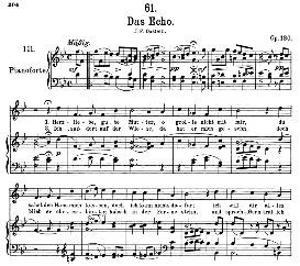 Das Echo D.990 in B Flat Major, High Voice. F. Schubert. | eBooks | Sheet Music