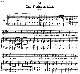 Das Fischermädchen D.957-10 in A Flat Major, High Voice, F. Schubert (Schwanengesang).Pet. | eBooks | Sheet Music