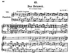 das heimweh d.851 in g minor, high voice. f. schubert (pet.)