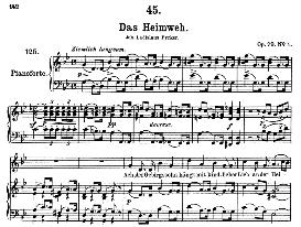 Das Heimweh D.851 in G Minor, High Voice. F. Schubert (Pet.) | eBooks | Sheet Music