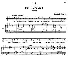 Das Rosenband D.280 in G Major, High Voice. F. Schubert (Pet.) | eBooks | Sheet Music
