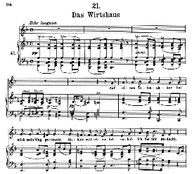 das wirtshaus d.911-21 in f major, high voice. f. schubert (winterreise).pet.