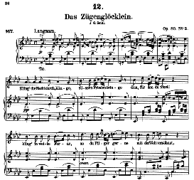 Das Zügenglocklein D.871 in A Flat Major, High Voice. F. Schubert (Pet.) | eBooks | Sheet Music