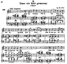 Dass sie hier gewesen D.775 in C Major, High Voice. F. Schubert. (Pet.) | eBooks | Sheet Music