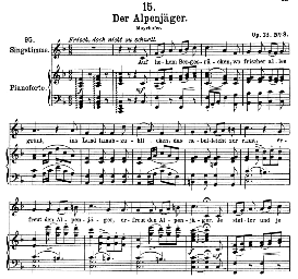 Der Alpenjäger D.524 in F Major, High Voice. F. Schubert. | eBooks | Sheet Music