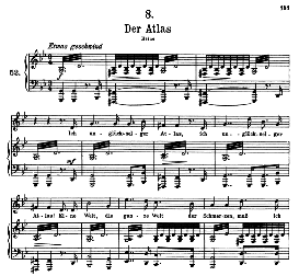 Der Atlas D.957-8 in G Minor in F Major, High Voice; F. Schubert (Schwanengesang). | eBooks | Sheet Music