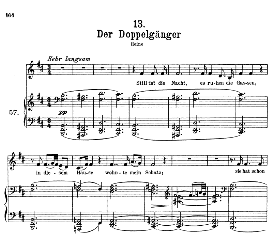 Der Doppelgânger D.957-13, High Voice in B Minor, F. Schubert (Pet.) | eBooks | Sheet Music