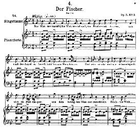 Der Fischer D.225, High Voice in B Flat Major, F. Schubert (Pet.) | eBooks | Sheet Music