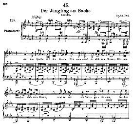 Der Jüngling am Bache D.904, High Voice in G Major, F. Schubert (Pet.) | eBooks | Sheet Music