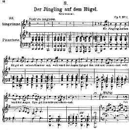 der jüngling auf dem hügel d.702, high voice in d minor, f. schubert (pet.)