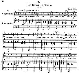 Der koenig in Thule D.367, High Voice in D Minor, F. Schubert (Pet.) | eBooks | Sheet Music