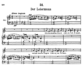 Der Leiermann D.911-24, High Voice in A Minor, F. Schubert (Winterreise) | eBooks | Sheet Music