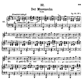 Der Musensohn D.764, High Voice in G Major, F. Schubert (Pet.) | eBooks | Sheet Music