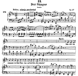Der Sänger D.149, High Voice in D Major, F. Schubert (pet.) | eBooks | Sheet Music