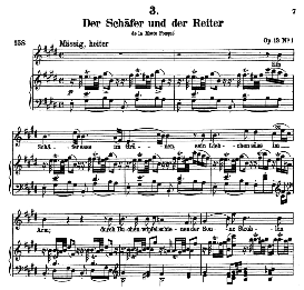 Der Schäfer und der Reiter D.517, High Voice in E Major, F. Schubert (Pet.) | eBooks | Sheet Music