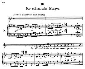 der stürmische morgen d.911-18, high voice in d minor, f. schubert (winterreise) pet.