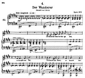 der wanderer d.493, high voice in c sharp minor, f. schubert  (pet.)