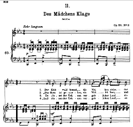 Des Madchens Klage D.191, High Voice in C Minor, F. Schubert (Pet.) | eBooks | Sheet Music