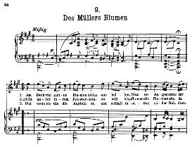 Des Müller's Blumen D.795-9, High Voice in A Major, F. Schubert (Die Schöne Müllerin) Pet.   eBooks   Sheet Music