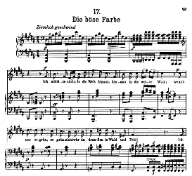 Die böse Farbe D.795-17, High Voice in B Major, F. Schubert (Die Schöne Müllerin) Pet. | eBooks | Sheet Music
