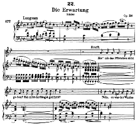 die erwartung d.159 in b flat major, high voice, f. schubert  (pet.)