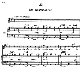 die nebensonnen d.911-23, high voice in a major, f. schubert (winterreise) pet.