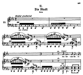 die stadt d.957-11, high voice in c minor, f. schubert (winterreise) pet.