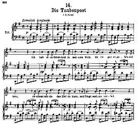 Die Taubenpost D.957-14, High Voice in G Major, F. Schubert Schwanengesang) pet. | eBooks | Sheet Music