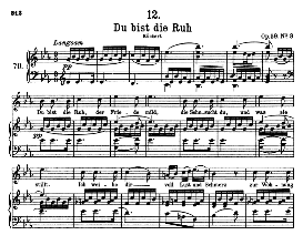 du bist die ruh d.776, high voice in e flat major, f. schubert (pet.)