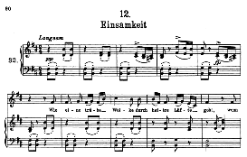 einsamkeit d.911-12, high voice in b minor, f. schubert (winterreise) pet.