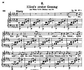 Ellen's Gesang II, D.838, High Voice in E Flat Major, F. Schubert  (Pet.) | eBooks | Sheet Music