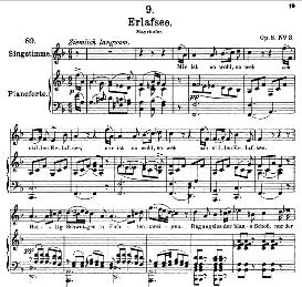 erlafsee d.586 in f major, high voice, f. schubert  (pet.)