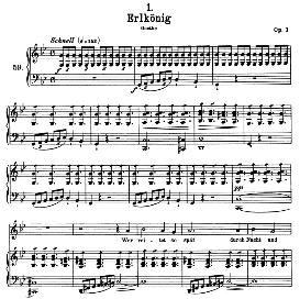 erlkönig d.328, high voice in g minor, f. schubert (pet.)
