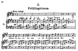 frühlingstraum d.911- 11, high voice in a major, f. schubert (winterreise) pet.