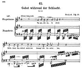 Gebet wâhrend der Schlacht D.171, High Voice in G Major, F. Schubert (Pet.) | eBooks | Sheet Music
