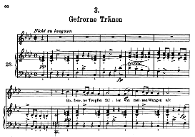 gefrorne tränen d.911-3, high voice in f minor, f. schubert (winterreise) pet.