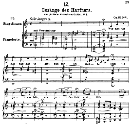 Gesänge des Harfners D.478-1, High Voice in A Minor, F. Schubert (Pet.). | eBooks | Sheet Music